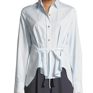 New with tags Vince Tie Front ButtonDown Top. SzXS